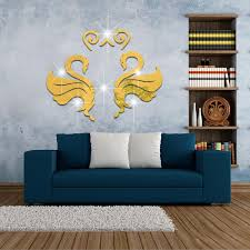 Design Wall Stickers 3d Swan Mirror Wall Stickers Home Decoration New Home Decoration