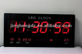 lighted digital wall clock astonishing design led digital wall clock 3inch slim buy lighted