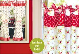 kitchen curtains red designs mellanie design