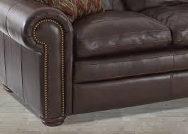 cherry brown leather sofa dalton cherry leather sofa nail head