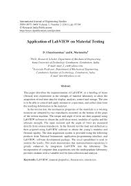 application of labview on material testing pdf download available
