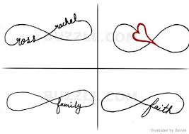 love infinity symbol tattoo designs photos pictures and