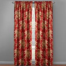 traditions by waverly bridgewater floral window curtains set of