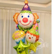 circus balloon 5pcs lot circus clown cake foil balloons anagram happy birthday