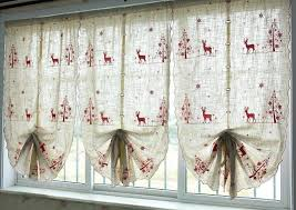 Decoration For Window Chic Christmas Window Curtains Patterned With Deer Pine And