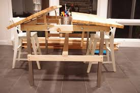 Oak Drafting Table by Multi Kid Drafting Table Ikea Hackers Ikea Hackers