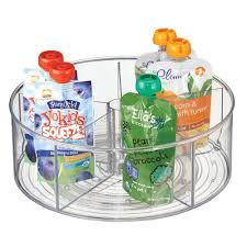 Glass Lazy Susan Turntable by Amazon Com Mdesign Lazy Susan Turntable Organizer For Baby Food