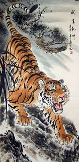 japanese tiger painting tiger painting tigers and japanese