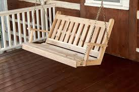 traditional english outdoor cedar swing with chains the rocking