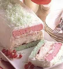 recipe neapolitan christmas cake pink white and green
