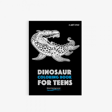 coloring books for teens dinosaur coloring book for teens with black background art