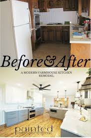 our fixer upper kitchen remodel before and after painted by kayla