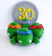 tmnt cake topper mutant turtles inspired cake topper edible fondant