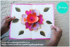 tutorial how to make a seven flower pop up card shreya design