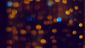 delicate orange and yellow bokeh lights stock footage