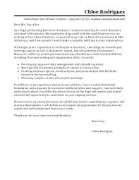 executive assistant cover letter best executive assistant cover letter exles livecareer