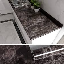 kitchen cabinets top material veelike black marble contact paper for countertops brown peel and stick countertops for kitchen cabinets removable wallpaper counter top covers peel
