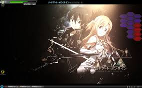 theme google chrome sword art online google chrome theme sword art online kirito and asuna wallpaper