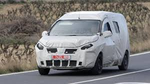 mpv van dacia lodgy mpv as a commercial vehicle spied motor1 com photos
