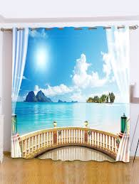 best curtains for bedroom 2018 shading sea landscape window curtain for bedroom sky blue w