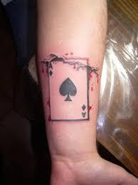 skull tattoos ace of spades tattoo design