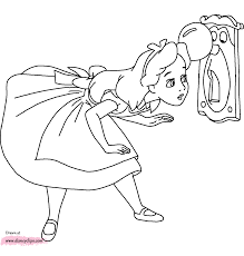 coloring pages disney alice in wonderland kids coloring
