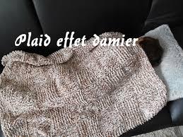 plaids en laine tricoter un plaid couverture façon damier youtube