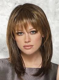 hair styles cut hair in layers and make curls or flicks medium length hairstyles with bangs for fine hair beauty