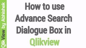 tutorial qlikview pdf qlikview tutorial how to use advance search dialog box in qlikview
