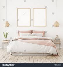 home bedroom interior design photos interior poster mock two vertical frames stock illustration