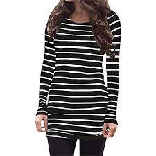 rayon blouse myobe s casual rayon striped o neck sleeve bottom t