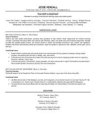Sample Career Objective For Teachers Resume by Resume Objective Examples For Teacher Assistants Augustais