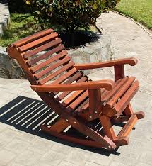 Wood Rocking Chair Outdoor Wooden Rocking Chair With Built In Lower Back Support