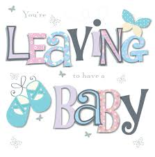 baby card you re leaving to a baby greeting card cards kates