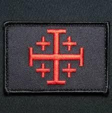 Jihad Flag For Sale Jerusalem Cross Crusader Red Black Ops Jihad Tactical Hook Army