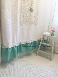 farmhouse blue shower curtain blue and white shabby chic