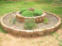 a raised herb bed from reclaimed brick u2022 new life on a homestead