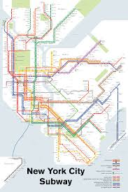 Manhatten Subway Map by Studio Complutense Subway Maps