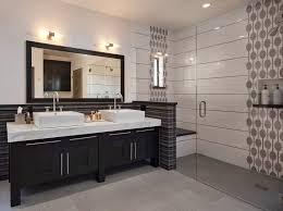 Bathroom Vanity Vancouver by Vancouver Black Bathroom Vanity Contemporary With Gray Mosaic Tile