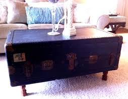 vintage trunk coffee table steamer trunk coffee table repurposing old stuff motifbrophy