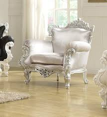 the silver odessa french victorian style accent arm chair 999