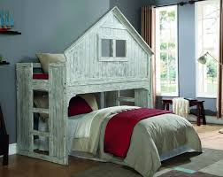 House Bunk Beds Ethan Distressed Tree House Loft Bed