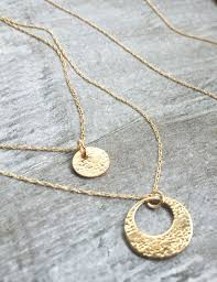 circle gold necklace images 14k gold mother daughter necklaces artisan fine jewelry erin jpg