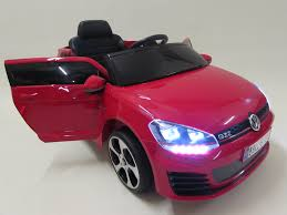 volkswagen red car vw golf gti 12v licensed ride on car u2013 red billys toys