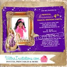 custom rapunzel tangled photo card invitations birthday invite