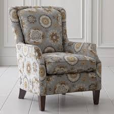 unique blue and brown accent chair interior