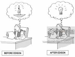 edison light bulb invention invented cartoons and comics funny pictures from cartoonstock