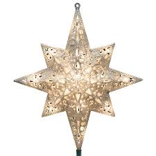 shop ge 11 in white lighted plastic tree topper