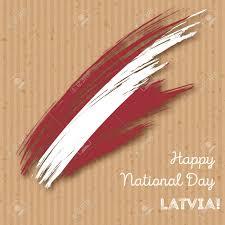 Uganda Flag Colours Latvia Independence Day Patriotic Design Expressive Brush Stroke