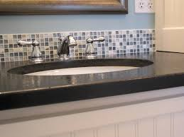 Bathroom Glass Tile Designs by Attractive Bathroom Glass Backsplash Good Looking Bathroom Glass